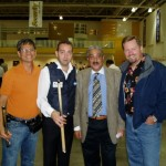 Noel with Nikos Polychronopoulos, Mr. Farouk and Ivan Lee