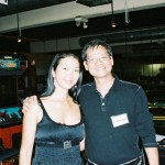 Noel with Jeanette Lee, the Black Widow at the Sang Lee Tournament Carom Cafe 2007